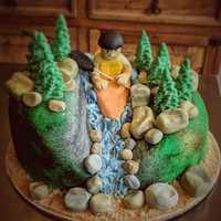 Kayak themed groom's #cake #navarrebeach #wedding