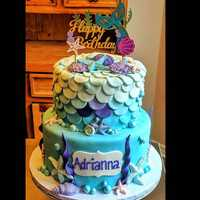 Mermaid themed birthday #cake #navarrebeach