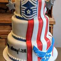 Thank you for your service!  #retirement #cake #airforce