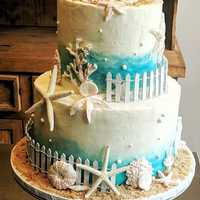 Beach themed wedding #cake #navarrebeach