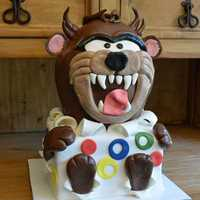 Groom's #cake #tasmaniandevil #destinationwedding