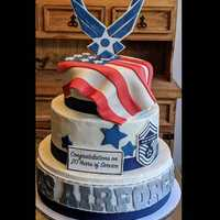 Air Force #retirement #cake #airforce
